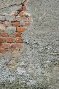 worn away brick